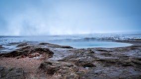 Strokkur, Geysir,冰岛 库存照片