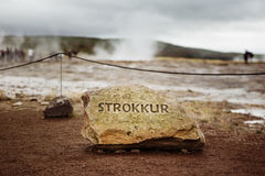 Strokkur Fotografia Stock