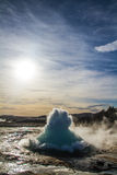 Strokkur Erupting Royalty Free Stock Photos