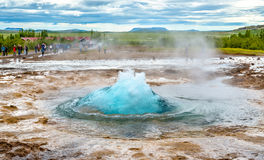 Free Strokkur Geyser About To Erupt Stock Images - 77470974