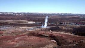 Strokkur Geyser erupting. At the Haukadalur geothermal area BMPC stock video