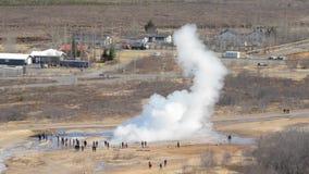 Strokkur Geyser erupting stock video
