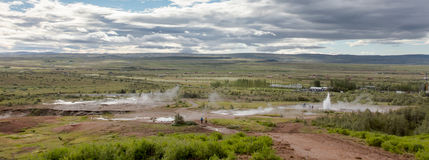 The Strokkur Geyser erupting at the Haukadalur geothermal area - Royalty Free Stock Photography