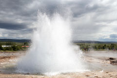 Strokkur Geyser eruption closeup, Iceland Royalty Free Stock Image