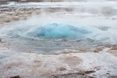 Strokkur geyser eruption Stock Image