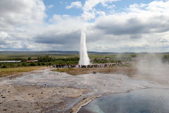 Strokkur Geyser eruption, Iceland Royalty Free Stock Images