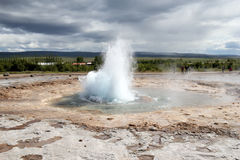 Strokkur Geyser eruption, Iceland Royalty Free Stock Photography