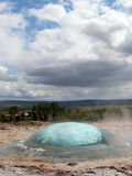 Strokkur Geyser eruption, Iceland Stock Images