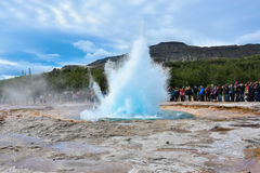 Strokkur Geyser Royalty Free Stock Photo