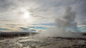 Strokkur geyser iceland stock footage