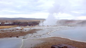 Strokkur geyser in Iceland stock video