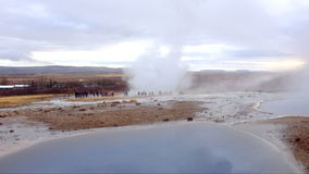 Strokkur geyser in Iceland stock footage