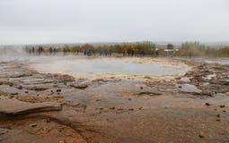 Strokkur geysir在冰岛 库存图片
