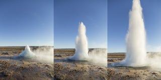 Strokkur Geysir演出冰岛 库存照片