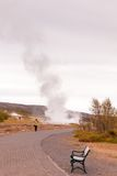 Strokkur geysir, Haukadalur谷,西南冰岛 免版税库存图片