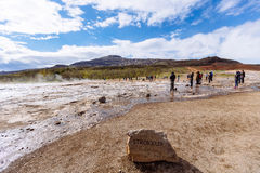 Strokkur Geysir éclatant Image libre de droits