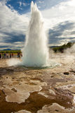Strokkur in Geysir area. Stock Photo