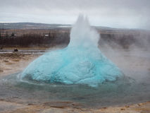 Strokkur Geysir Bubble. Bubble before the Strokkur Geysir blows in Iceland Stock Image