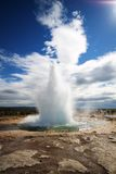 Strokkur Geysir eruption, Iceland Royalty Free Stock Images