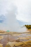 Strokkur geysir, Haukadalur valley,  southwestern Iceland Royalty Free Stock Photography
