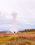 Strokkur geysir, Haukadalur valley,  southwestern Iceland Royalty Free Stock Images