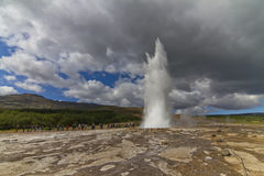 Strokkur - Geysir in Iceland Stock Photos