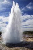 Strokkur geysir w Iceland Obrazy Royalty Free