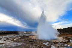 Strokkur Iceland erupting Stock Photos