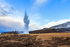 Strokkur landscape Royalty Free Stock Image