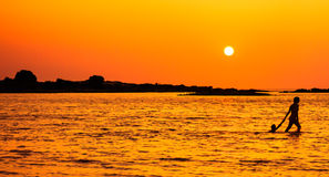 Stroll захода солнца Стоковые Изображения RF