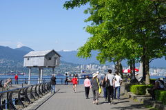Stroll along Vancouver's sea wall Royalty Free Stock Photography