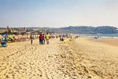 A stroll on the beach Stock Image