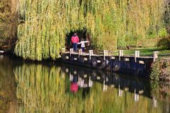 Free Stroll By The Lake Among Yellowed Leaves Royalty Free Stock Photography - 159629767