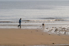 Stroll della spiaggia Fotografie Stock