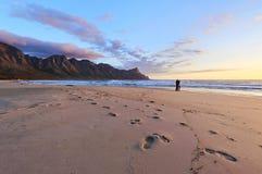 Stroll di tramonto Immagine Stock