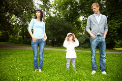 Stroll in a park Stock Photography