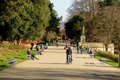A stroll in the park royalty free stock photography