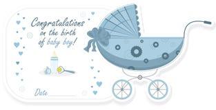 Stroller for baby boy, vector illustration Stock Image