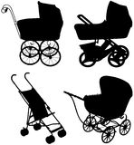 Set stroller for the baby. Stock Photo