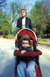 Stroller in park Stock Photo