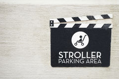 Stroller parking. Area, close up Stock Images