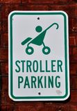 Stroller parking Stock Images