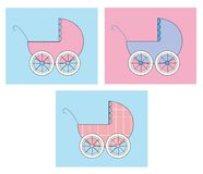 Stroller Set Royalty Free Stock Photography