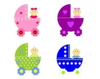 Strollers collection Stock Image
