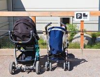 Strollersparkeringsplats Arkivbild