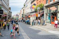 Strollin в Квебеке (город) стоковые изображения rf