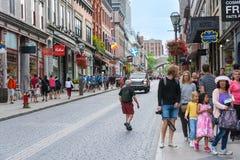 Strollin i Quebec City arkivbild