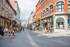 Strollin i Quebec City arkivbilder