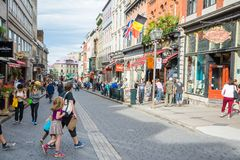 Strollin i Quebec City royaltyfria bilder
