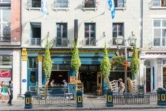 Strollin i Quebec City royaltyfria foton